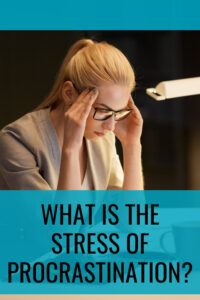 What is The Stress of Procrastination Pin