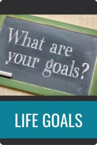 LIFE GOALS Pin