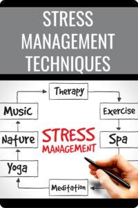 Stress Management Techniques Pin